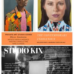 Private Art Studio Soiree - Athena Anastasiou - The Contemporary Indigeneous  By The In Vogue Travelers Club