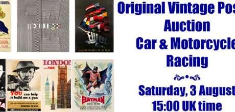 Antikbar Poster Auction Incl. Motor Racing